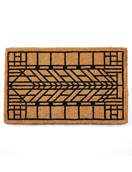 Craftsman Arrow Windowpane Doormat by Rejuvenation