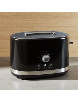 Kitchen Aid ® Onyx Black 2 Slice Toaster by Crate&Barrel