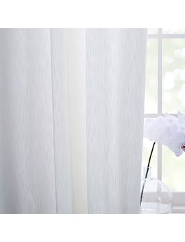 Textured Cotton Jacquard Curtain   Stone White by West Elm