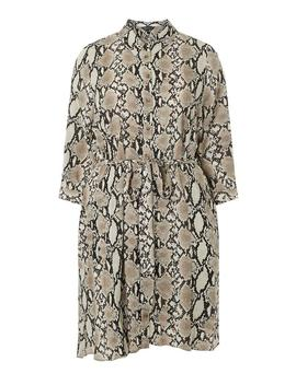 **Dp Curve Snake Print Long Sleeve Shirt Dress by Dorothy Perkins