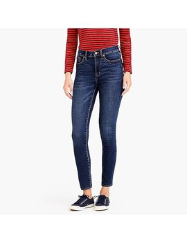 "9"" High Rise Skinny Jean In Classic Blue Wash by J.Crew"