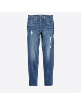 "10"" High Rise Skinny Jean With Distressed Details by J.Crew"