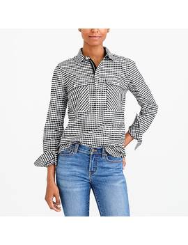 Gingham Shirt Jacket by J.Crew