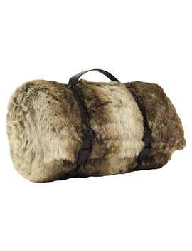 Snowdon Brown Faux Fur Throw 150cm by Riva Paoletti                                      Sold Out