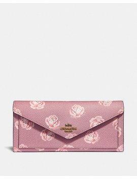 Soft Wallet With Rose Print by Coach