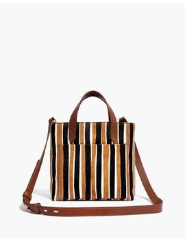 The Small Transport Crossbody In Striped Calf Hair by Madewell