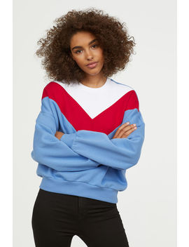 Block Patterned Sweatshirt by H&M