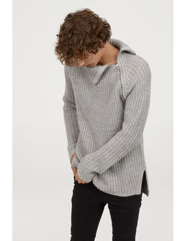 Polo Neck Jumper With A Zip by H&M