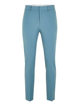 Light Blue Skinny Smart Trousers by Topman