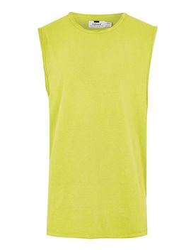 Bright Lime Tank Vest by Topman