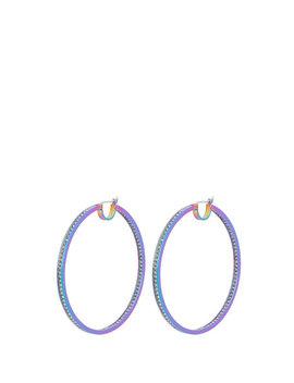 Pave Hoop Earrings by Henri Bendel