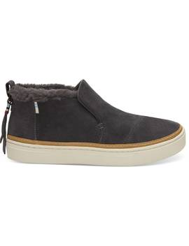 Forged Iron Grey Suede Women's Paxton Slip Ons by Toms