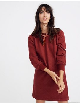 Bubble Sleeve Sweatshirt Dress by Madewell