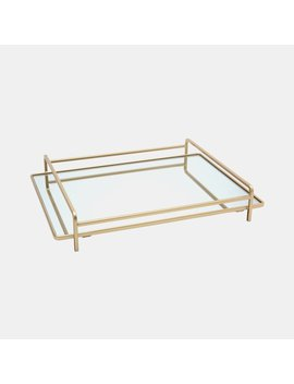 Gold Mirrored Tray by Dormify