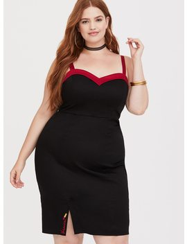 Betty & Veronica   Veronica Black & Red Lipstick Bodycon Bustier Dress by Torrid