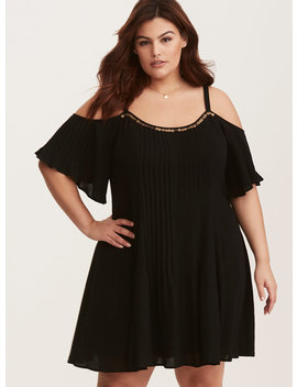 Black Gauze Trapeze Dress by Torrid