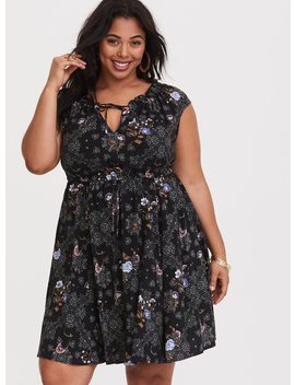 Floral Paisley Skater Dress by Torrid