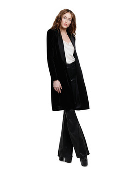 Kylie Long Velvet Jacket by Alice And Olivia
