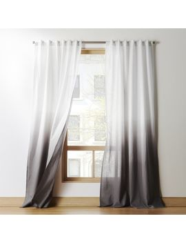 Grey Dip Dye Curtain Panel by Crate&Barrel