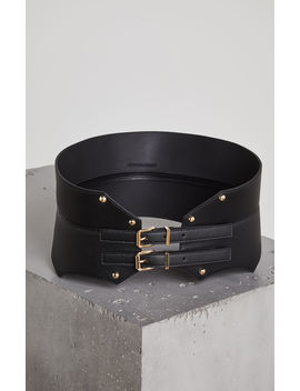 Faux Leather Contour Belt by Bcbgmaxazria