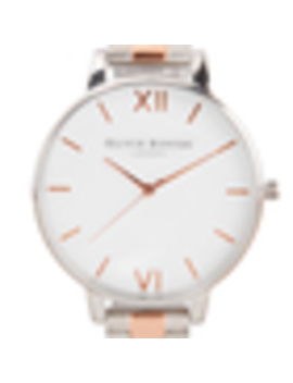 Olivia Burton Women's White Dial Bracelet Watch   Silver & Rose Gold by My Bag