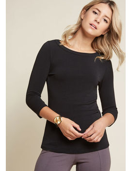 Subtly Sentimental Knit Top by Modcloth