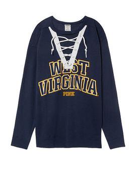 West Virginia University Campus Lace Up Crew by Victoria's Secret