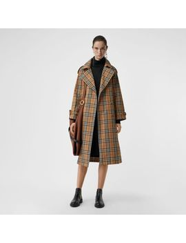 Vintage Check Cotton Trench Coat by Burberry
