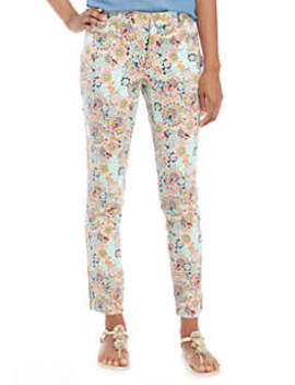 Floral Denim Pants by Crown & Ivy™