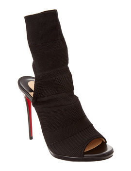Christian Louboutin Cheminene 120 Stretch Knit Ankle Boot by Christian Louboutin