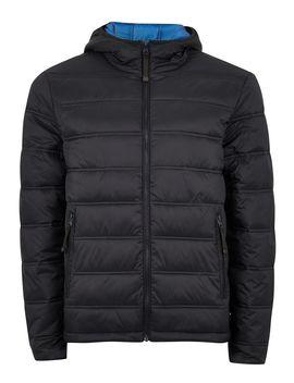 Navy Hooded Liner Jacket by Topman