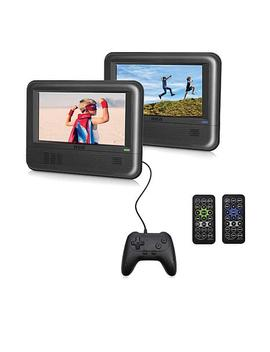 "2 Pack 7"" Rca Portable Dvd Players With Car Kit, 20 Games &Amp; Controller by Rca"