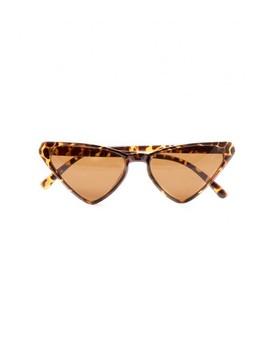 Natasha Tortoise Shell Triangle Sunglasses by Missy Empire