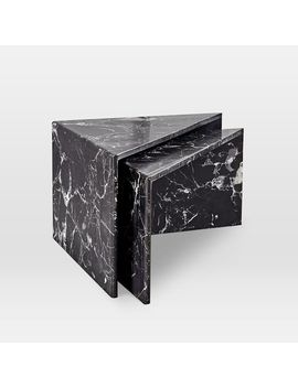 Nesting Marble Side Table, Individual by West Elm