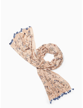Joshua Tree Toile Oblong Scarf by Kate Spade