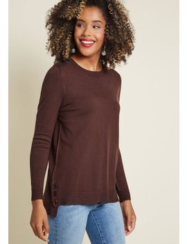 Charter School Tunic Sweater In Olive by Modcloth
