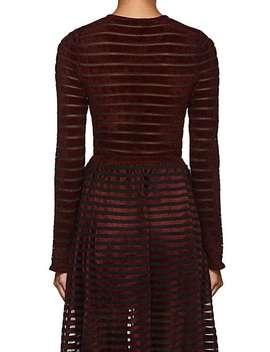 Chani Velvet Striped Tulle Bodysuit by Ronny Kobo