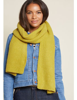 Totally Toasty Scarf In Yellow by Modcloth