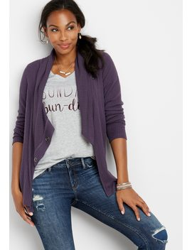 Asymmetrical Snap Neck Cardigan by Maurices