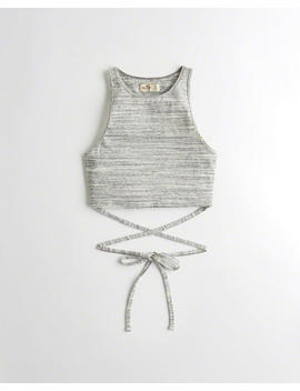 High Neck Wrap Ultra Crop Top by Hollister