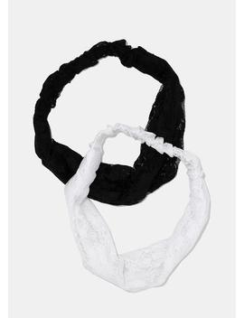Black & White Lace Headbands by Miss A