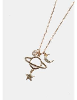 Saturn Pendant Necklace by Miss A