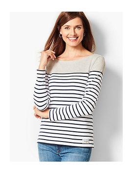 Authentic Talbots Tee   Colorblock Stripe by Talbots