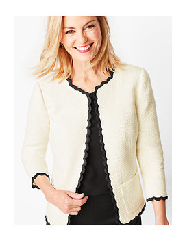 Cotton Tweed Scallop Edge Jacket by Talbots
