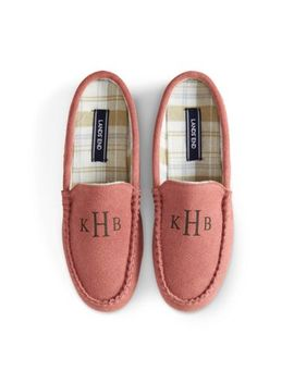 Women's Suede Clog Slippers by Lands' End