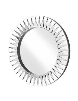 Sparkle 39.5 In. Contemporary Round Mirror In Clear by Generic