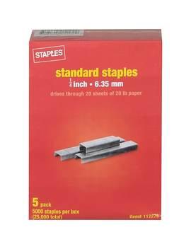 """Staples Standard Staples, 1/4"""", 25,000/Pack (10807) by Staples"""
