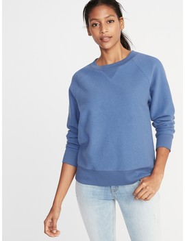 Reverse Knit Crew Neck Sweatshirt For Women by Old Navy