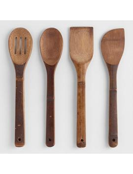 Carbonized Bamboo Essential Cooking Utensils 4 Pack by World Market
