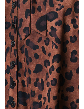 Animal Print Crepe Shirtdress by Eshakti
